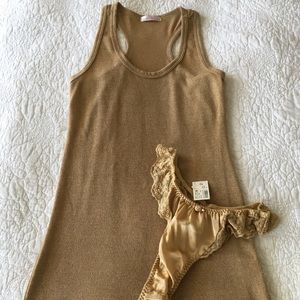 NWT Victoria's Secret thong and matching tank